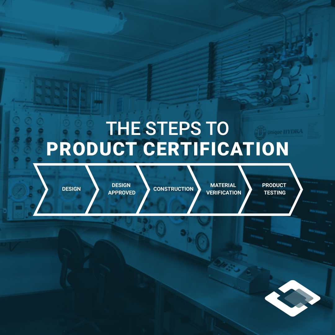 infographic of subsea and diving equipment product certification process
