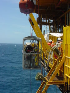 commercial diver launch and recovery equipment